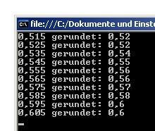 Screenshot: Rundung in C#