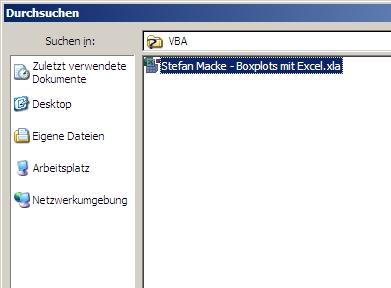 Boxplots mit Excel 2007 - Schritt 5
