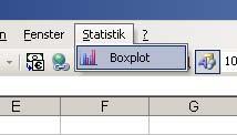 Boxplots mit Excel: Das Statistik-Menü
