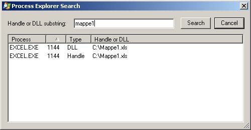 Process Explorer: Find Handle or DLL 2
