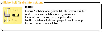 ICS mit ZoneAlarm: Schritt 2