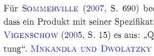 LaTeX: Zitierte Autoren in Kapitälchen