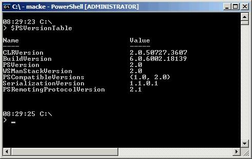 PowerShell 2.0
