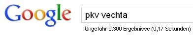 Google-Suche: pkv vechta