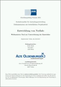 Latex Vorlage Fur Ihk Projektdokumentationen Zum Fachinformatiker Anwendungsentwicklung Stefan Macke