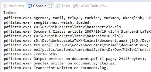 Compiling a LaTeX project with TeXlipse