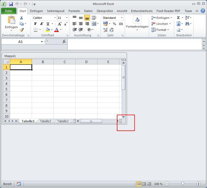 Excel-Arbeitsmappe lässt sich nicht vergrößern oder verkleinern